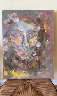 Abstract Portrait Acrylic Painting