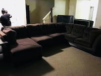 3 set sofa to cherry wood end tables 2 set entertainment center (cherrywood) and Center table Newport News, 23608