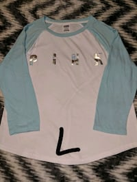 white and teal long-sleeved shirt Cleveland, 44106