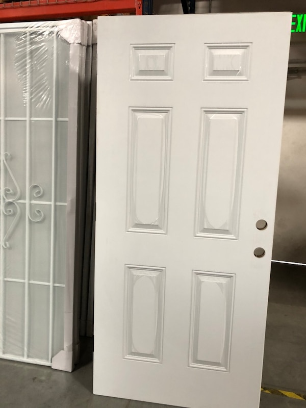 "Solid wooden steel entry door 36""x80"""