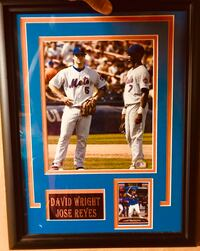David Wright & Jose Reyes framed item including the Captain rare baseball card  Smithtown, 11787