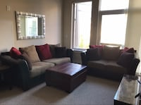 Sofa and love seat with ottoman storage and mirror Medford, 02155