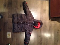 black and red zip-up hoodie Montréal, H4A 3J1
