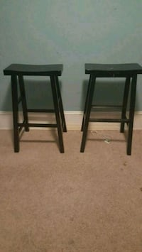 two black wooden bar stools Baltimore, 21206
