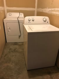 white top-load washer and dryer set Charlotte, 28269