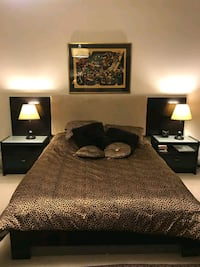 Bedroom set and King mattress and box spring 17 km