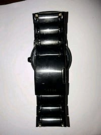 black and silver watch with link bracelet Toronto, M9W