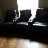 Reclining media chairs (needs covering) Parker, 75002
