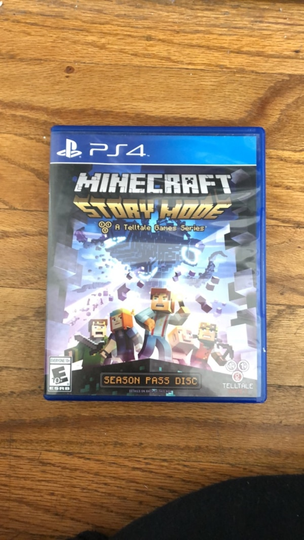 Used PS4 Minecraft Story Mode game case for sale in Los Angeles