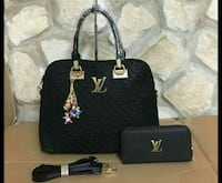 abiti in pelle nero Louis Vuitton 6813 km