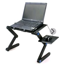 Adjustable Folding Laptop Table Desk Bed Sofa Computer Tray Stand Port