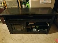black wooden painted antiqued entertainment stand Rochester, 14620