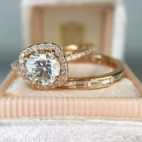 gold-colored diamond ring Washington