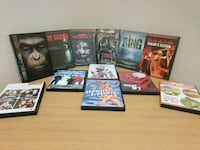 Assorted movies on DVD