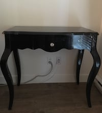 black wooden side table with drawer Surrey