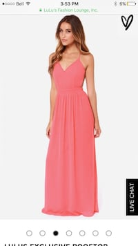 Size S backless coral maxi dress  Vancouver, V6B