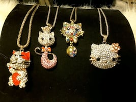 NEW Kitties.Necklaces 10$ea WOW WHAT 11/17