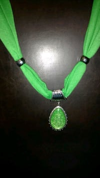Green scarf with charms. Wear different ways.  Pooler, 31322