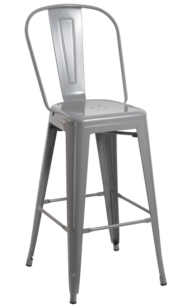 Used Brand New 30 Grey Metal Bar Stool Barstools For Sale In Walnut