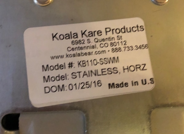 Koala Kare Stainless Steel Wall Mounted Baby Changing Station KB110-SSWM a400e73c-2794-4577-bd41-fad20f112ab7