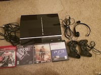 PS3 console, games, controllers
