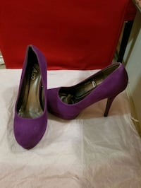 Purple stiletto heels