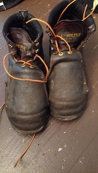 pair of black leather work boots Donora, 15033