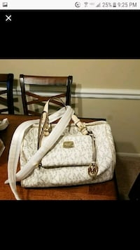 white and brown leather handbag Gaithersburg, 20877