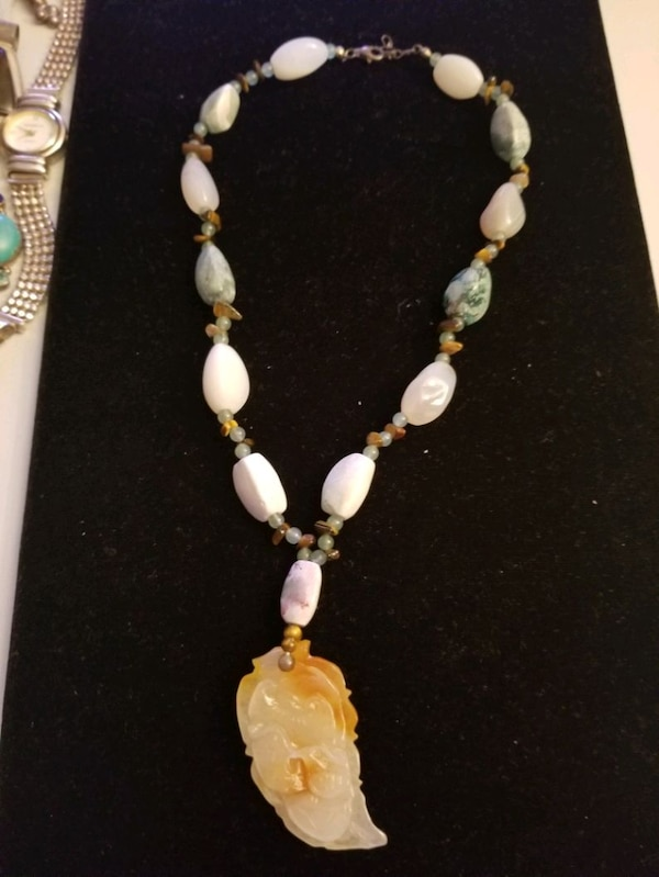 Jade necklace  with sterling silver clasp  d2f0f349-01bf-45a9-b4b9-f030356059eb