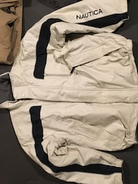 white and black Nautica full-zip jacket