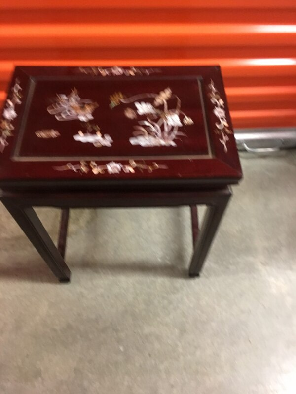 Chinese stacking tables Mother of Pearl, Rosewood. The price is firm . Large 22 inches high, 17 inches wide, medium table 18 inches high, 14 1/2 inches wide, small table 14 inches high, 11 1/2 wide . 01f17ce8-5330-400d-bd8b-47d8148457d5