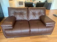 Brown Bonded Leather Loveseat Chicago, 60654