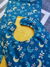 blue and yellow floral baby bib set Merced, 95340