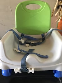 baby's white and green high chair Rockville, 20854