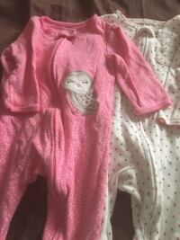 baby's pink owl print and white and red onesies Huntington Beach, 92648