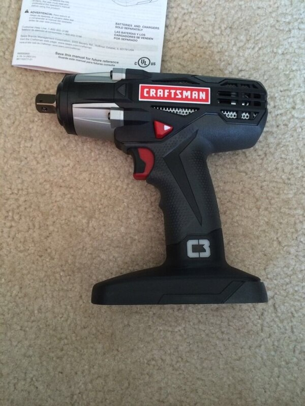 Used Craftsman C3 Cordless Impact Wrench 1 2 In W Battery For Grand Prairie Letgo