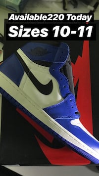 blue-and-white Air Jordan 1 shoes Charlotte, 28213