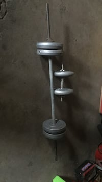 gray barbell with dumbbell Carpentersville, 60110