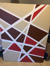 Geometric painting: 16x20-Brown and red Oklahoma City, 73013