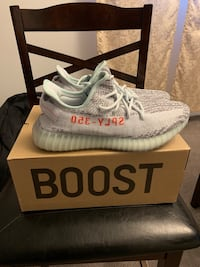 pair of white Adidas Yeezy Boost 350 on box Rockville, 20850