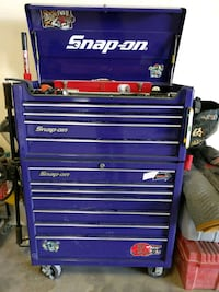 Snap on tool box with tool equipment.  Los Angeles, 90012