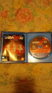 NBA 2K16 Sony PS4 game disc in case