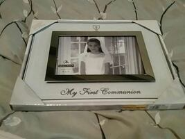 """New in box.My First Communion 4"""" X 6"""" photo frame"""
