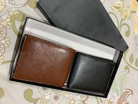 Brand new mens wallet set; black and brown Vaughan, L4J 6G2