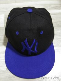black and purple New York Yankees cap SINGAPORE