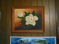 white petaled flower painting with brown wooden frame Gulfport, 39507