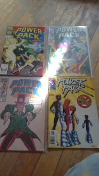 four Marvel Comics Power Pack comic book collection Montreal, H3W 2E7
