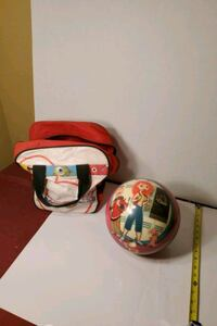 Kim Possible Child's Bowling Ball with Natalie inscribed on it