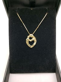 """14K Yellow Gold 20"""" Mother and Child Heart Necklac Upland, 91786"""