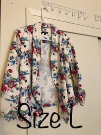 White, pink, and green floral blazer Campbell, 95008